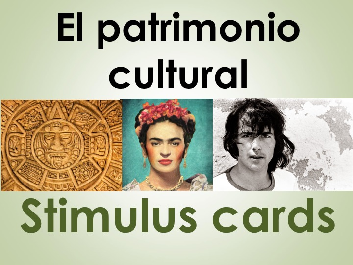 New AS/A Level Spanish: Stimulus cards on El patrimonio cultural