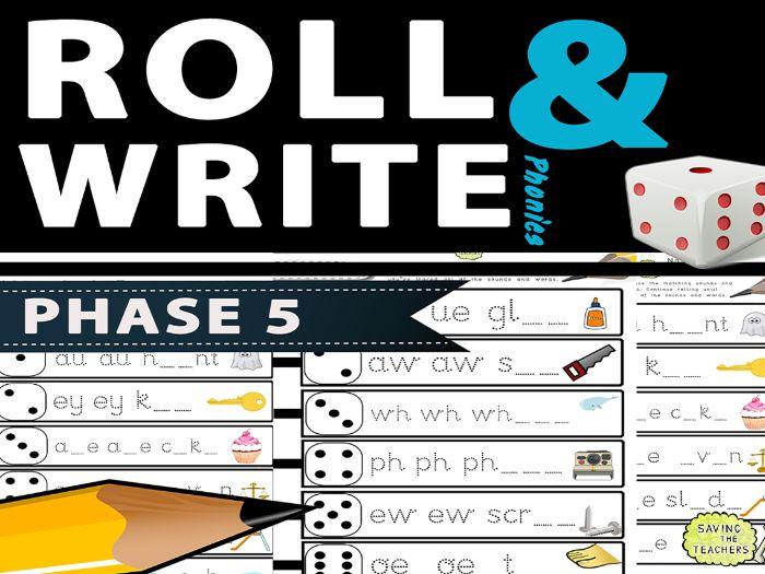 Phase 5 Phonics Handwriting / Spelling Dice Game