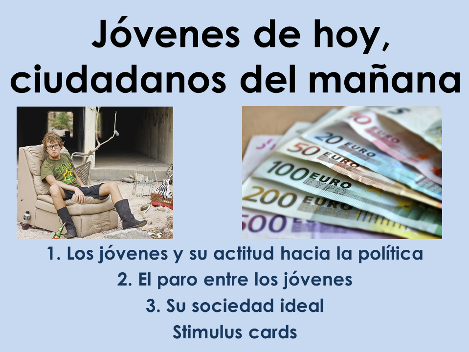 AQA New A Level Spanish: Jóvenes de hoy with stimulus cards