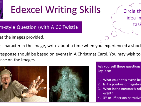 Edexcel English 9-1 Writing Skills (Scrooge - A Christmas Carol)