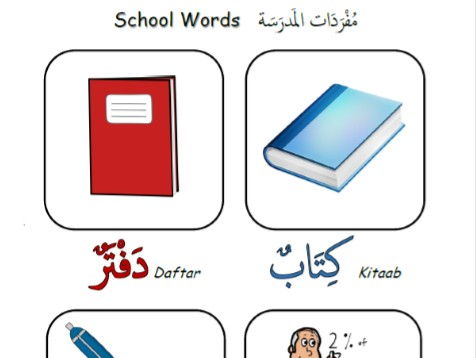 Arabic Lesson on Class or School Words