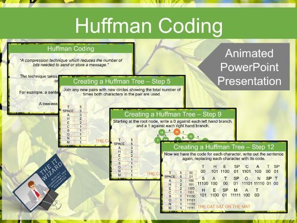 Huffman Trees, Coding & Encoding Animated Presentation