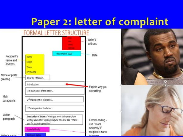 GCSE English Language - Grade 9 Letter of complaint (FULL LESSON)