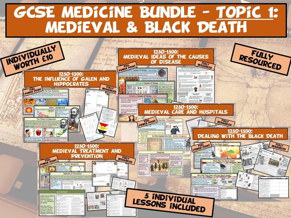 GCSE Medicine Bundle - Topic 1: Medieval & Black Death