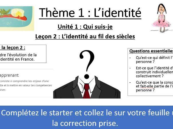 IB FRENCH B 2020 - Identité L2 - Evolution de l'identité