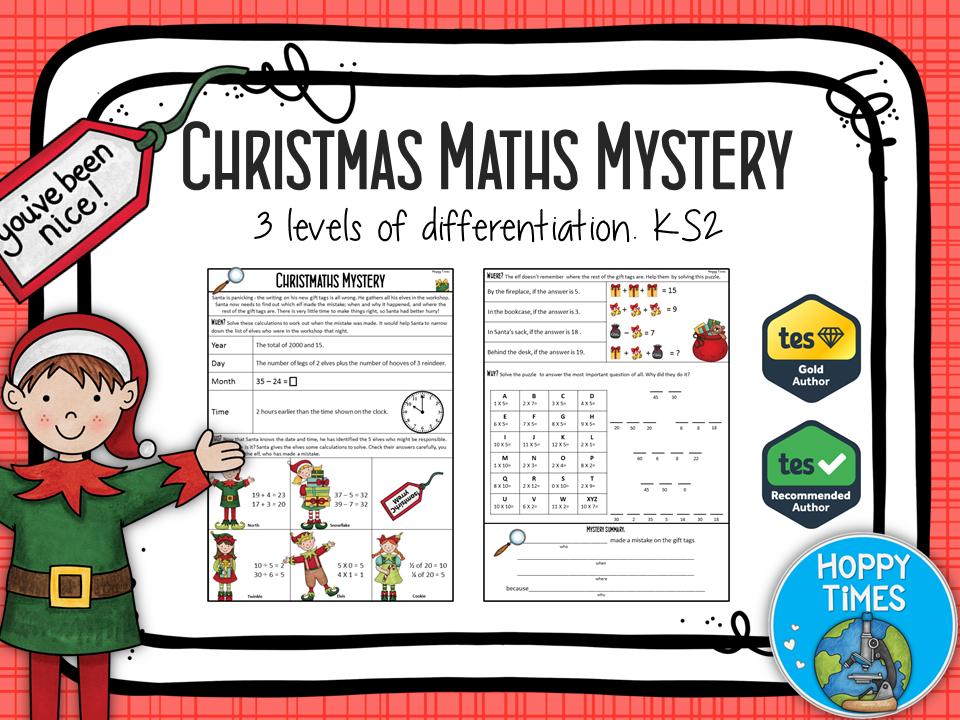 "Winter /Christmas Maths ""Murder"" Mystery (revision)"