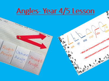 Angles- Year 4/5- OBSERVATION