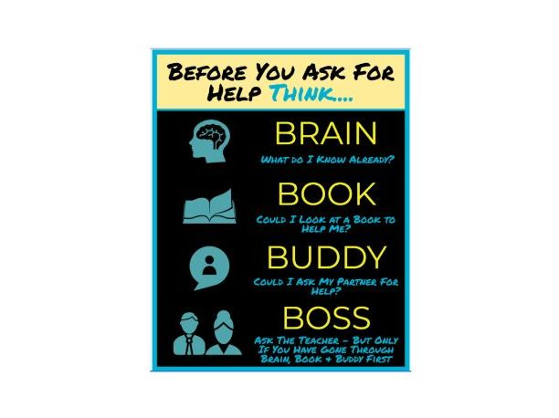 The 5 B's Poster / Display (Brain, Book, Buddy, Boss)