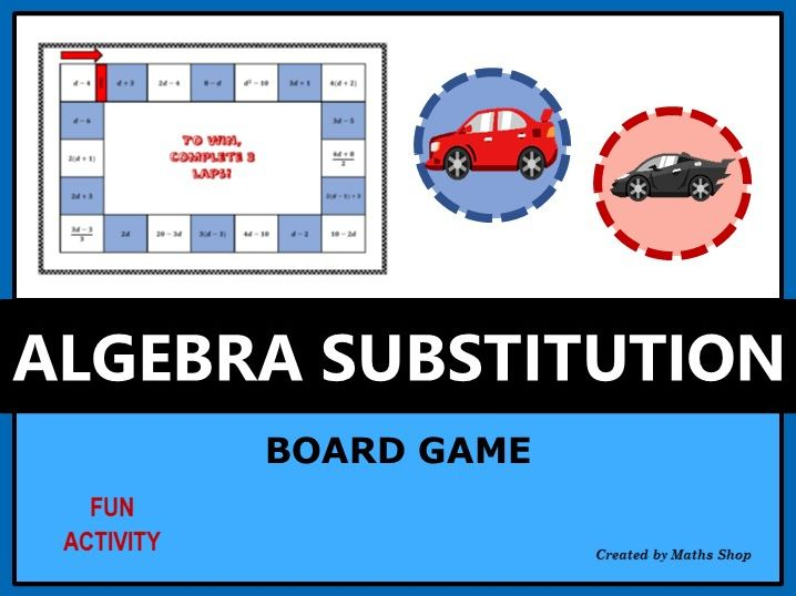 Algebra Substitution Board Game