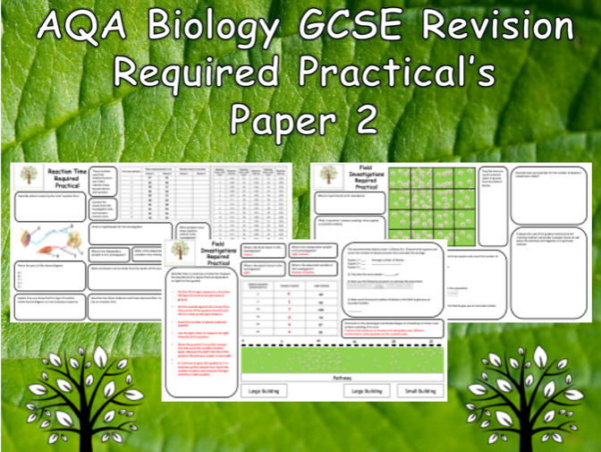 Biology Required Practicals - AQA GCSE Biology Trilogy Paper 2 Revision with answers