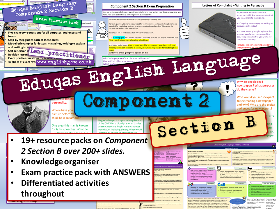 Eduqas English Language Component 2 Section B