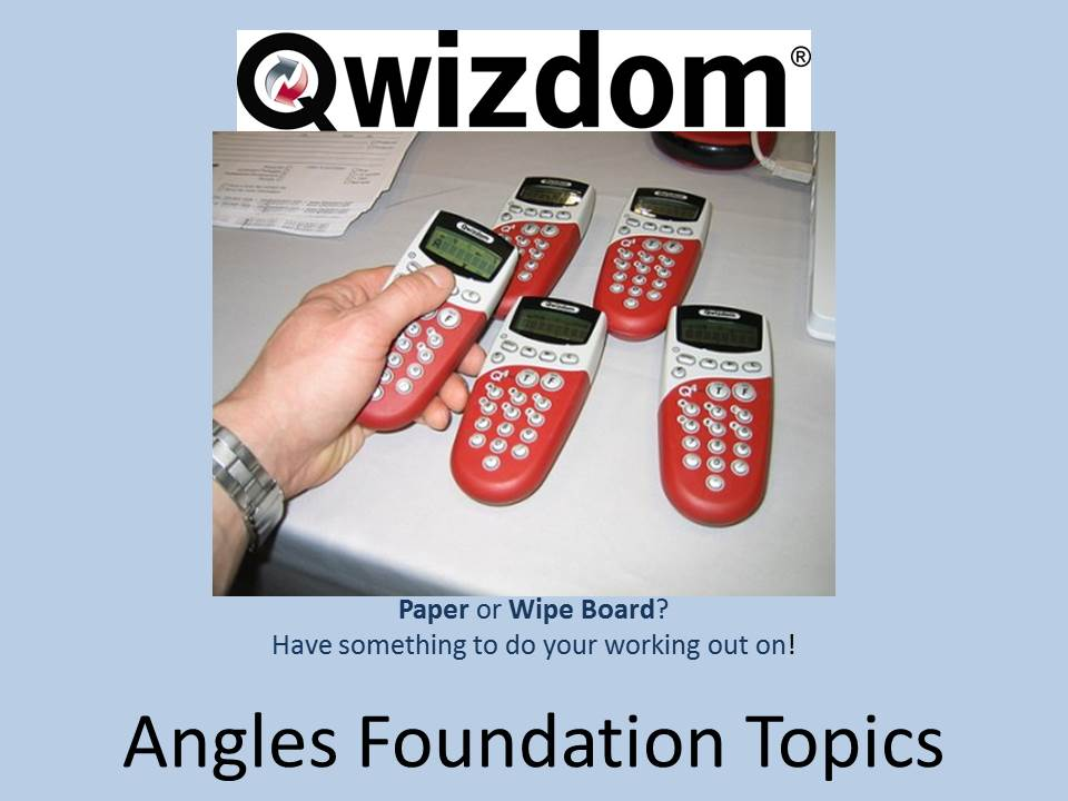 NEW 9-1 Maths GCSE Foundation Qwizdom - Angles Topics (All graded) Revision