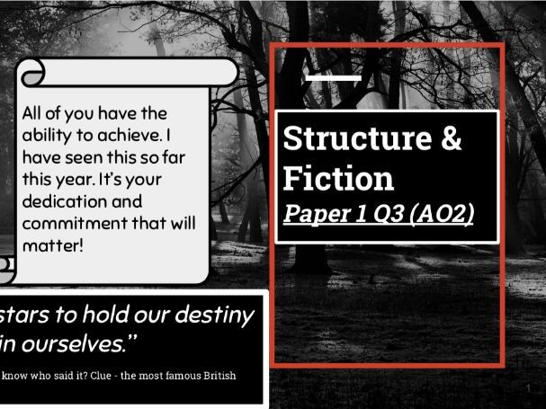 Structure & Fiction - AQA GCSE Language - Paper 1 Q3 (AO2)