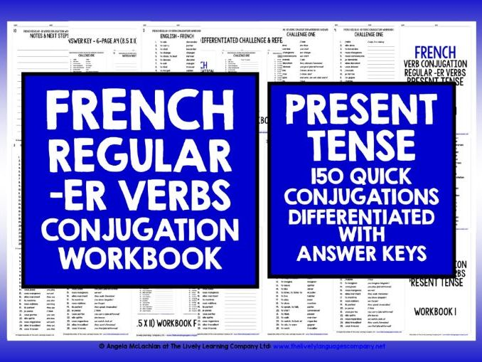 FRENCH -ER VERBS REVISION PRESENT TENSE