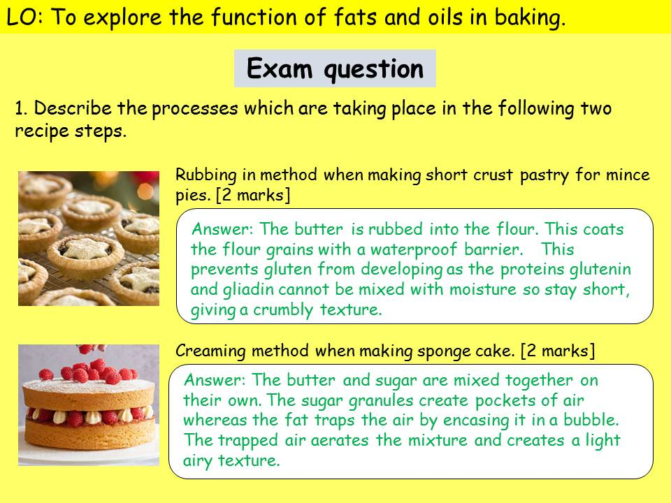 Shortening, aeration and plasticity - function of fat in baking