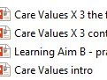 BTEC Tech Award Level 1/2 Health & Social Care Component 2 LA-B Care Values X 7 and assessment