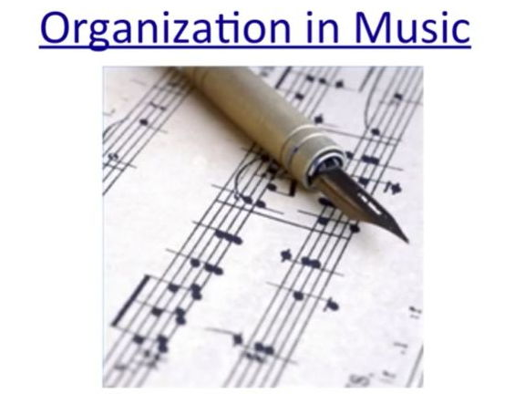 Organization in Music