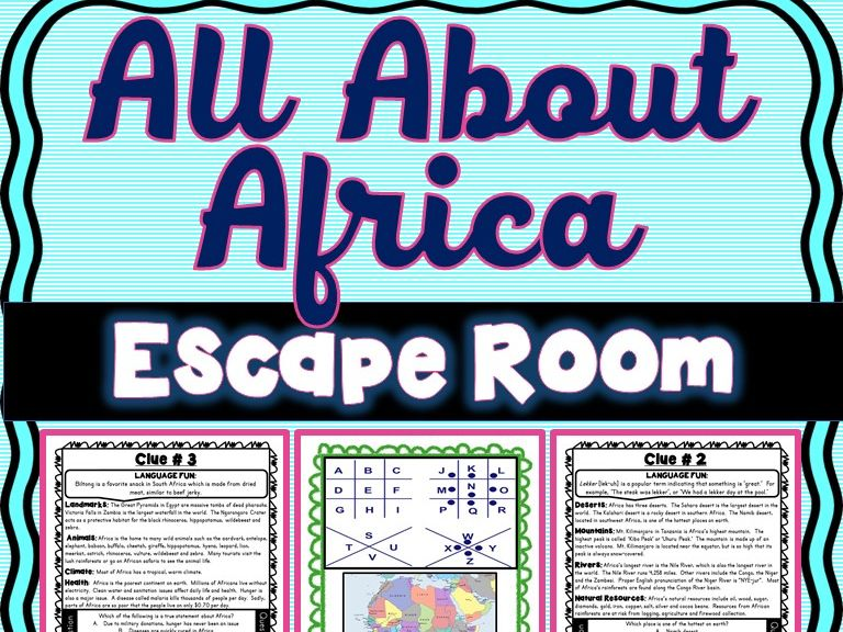Africa Escape Room : Geography