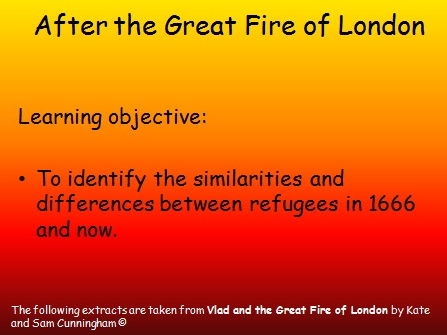 Great Fire of London and the refugees after the fire