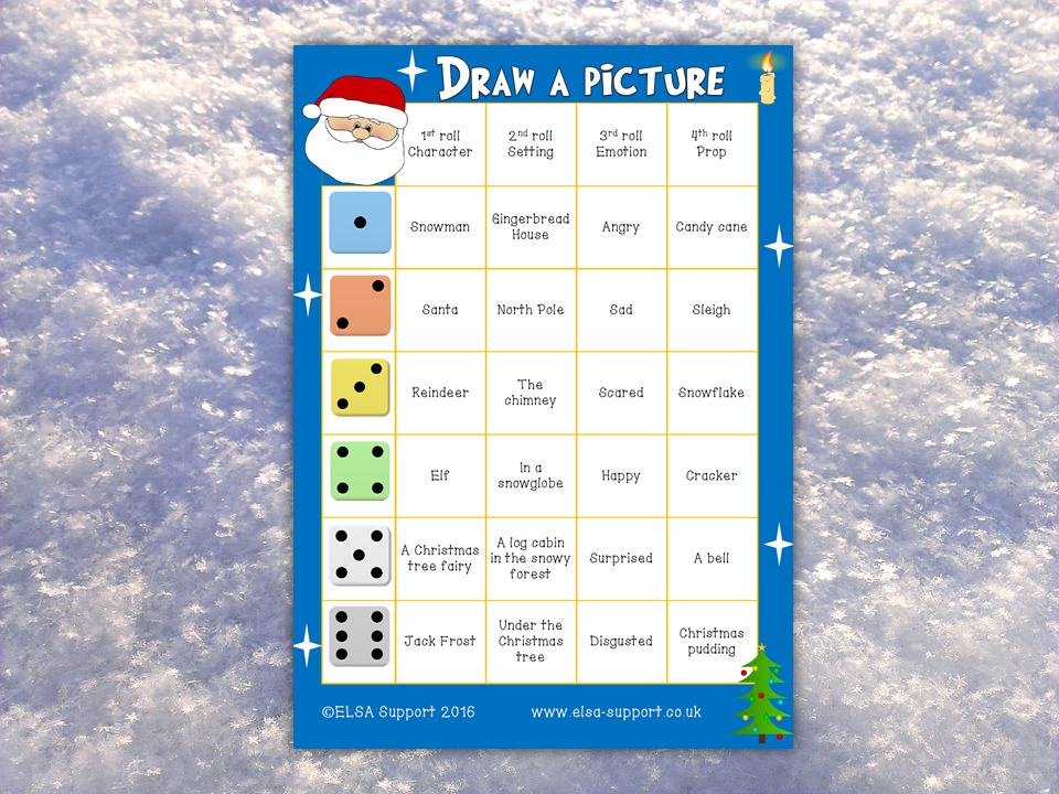 Christmas Draw a Picture