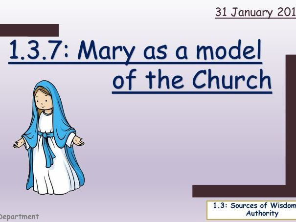 Edexcel; 1.3.7: Mary as a model of the Church