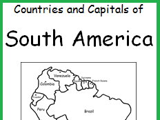 SOUTH AMERICA - Countries and Capitals
