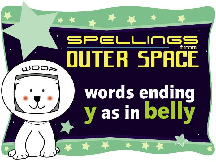 Year 1 Spellings from Outer Space: Words ending Y as in BELLY