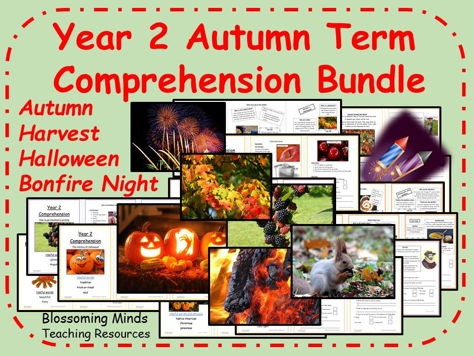 Bumper Year 2 Comprehension Pack - Autumn Term