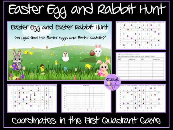 Easter Egg Hunt - Coordinates Game