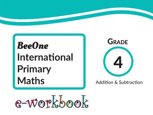 Grade 4 Addition & Subtraction, 63 worksheets from BeeOne Books