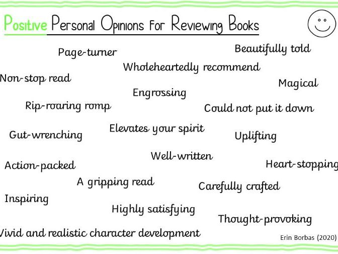 Personal Opinions for Reviewing Books