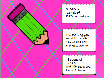 Year 3 Spelling Unit Long I Patterns- 3 Different Levels of Differentiation
