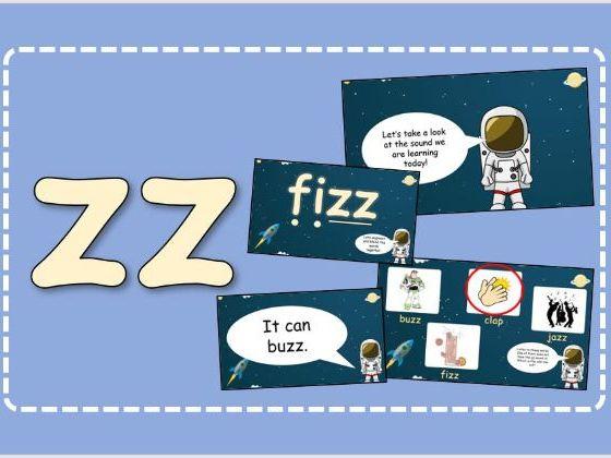 Phase 3 Set 7 Phonics  (y, z, zz)