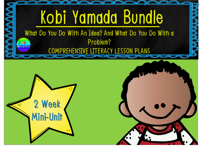 Kobi Yamada Bundle 2 Week Mini-Unit