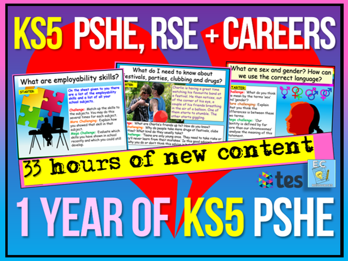 KS5 PSHE - 1 Year's Worth