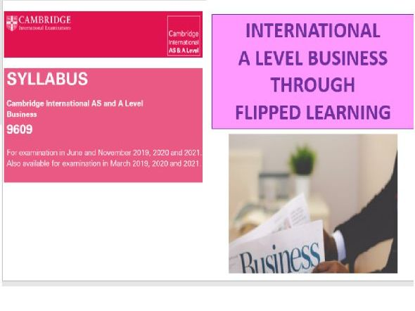 Year 13 Cambridge International A level in Business Flipped Notes Booklet 1