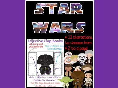 Star Wars Adjectives - Interactive Notebook - Grammar - Language