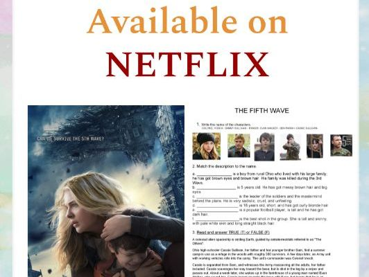 The Fifth Wave - Movie Worksheet (Available on Netflix)