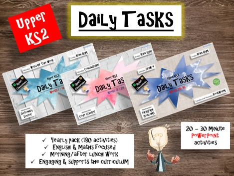Upper KS2 PowerPoint Daily Tasks ***YEARLY PACK***