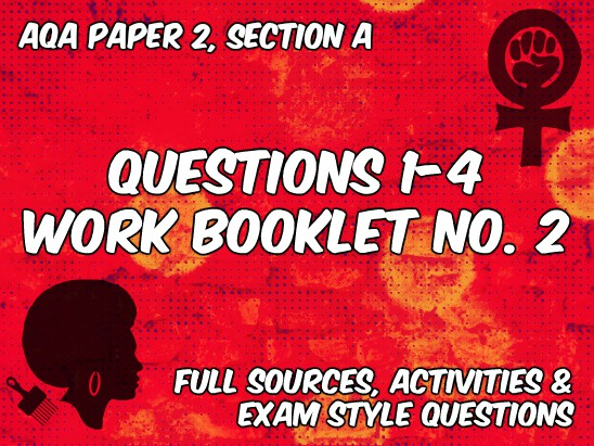 Booklet for AQA Paper 2, Section B (Non-Fiction, Feminism and Black Civil Rights Themed)