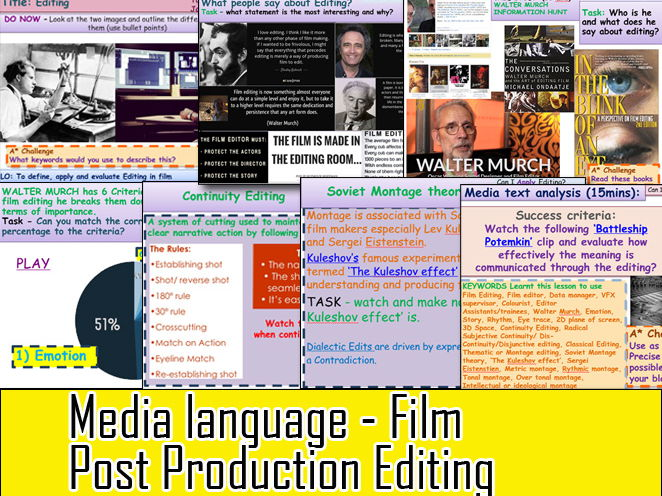 Media Language Film  Post Production Editing