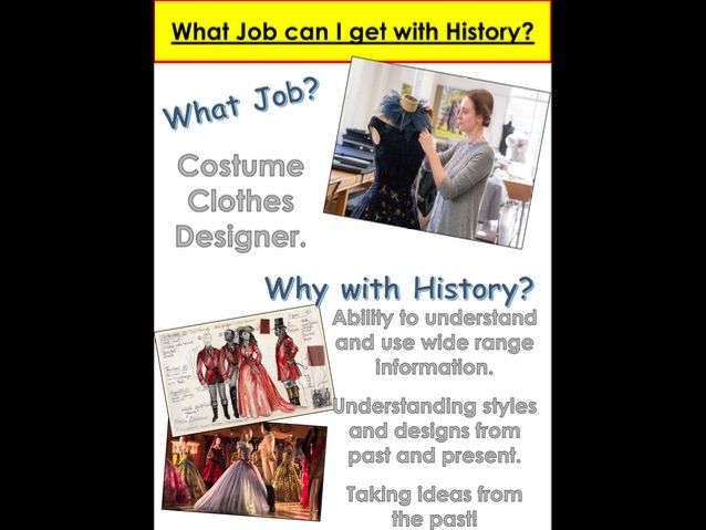 History Display What Job can I get with History
