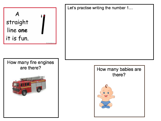 EY Maths Number Sheets 1-6