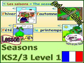 PRIMARY FRENCH LESSON (KS2/3): Song, seasons and describing seasonal weather.