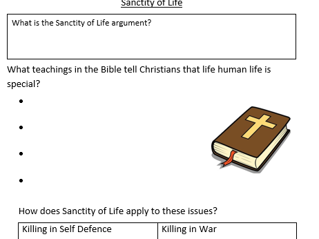 Intervention Workbook for GCSE Religious Studies Edexcel B Christianity Matters of Life and Death