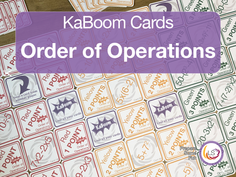 Order of Operations | KaBoom Card Game