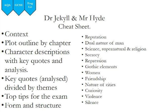 AQA Dr Jekyll and Mr Hyde Crib Sheet