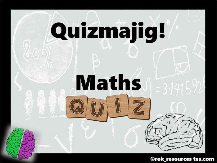 Maths Quiz - Quizmajig!