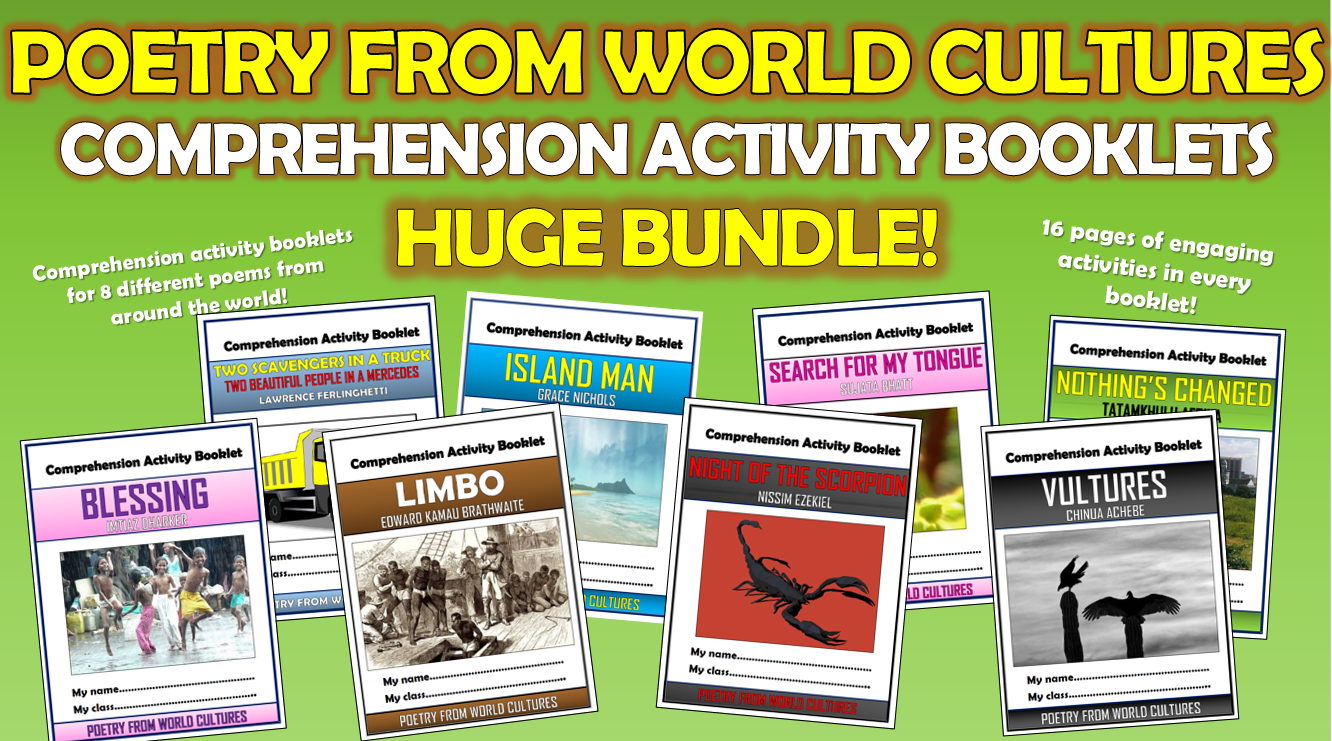 Poetry from World Cultures Comprehension Activity Booklets Bundle!