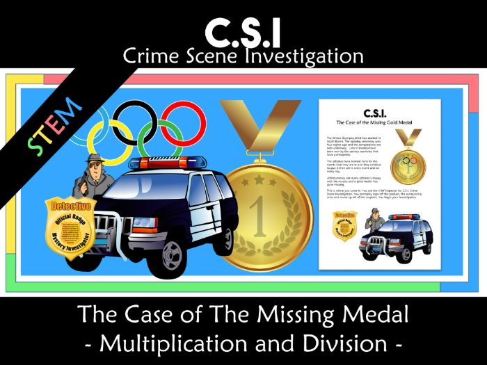Winter Olympics CSI: The Case of the Missing Gold Medal STEM activity